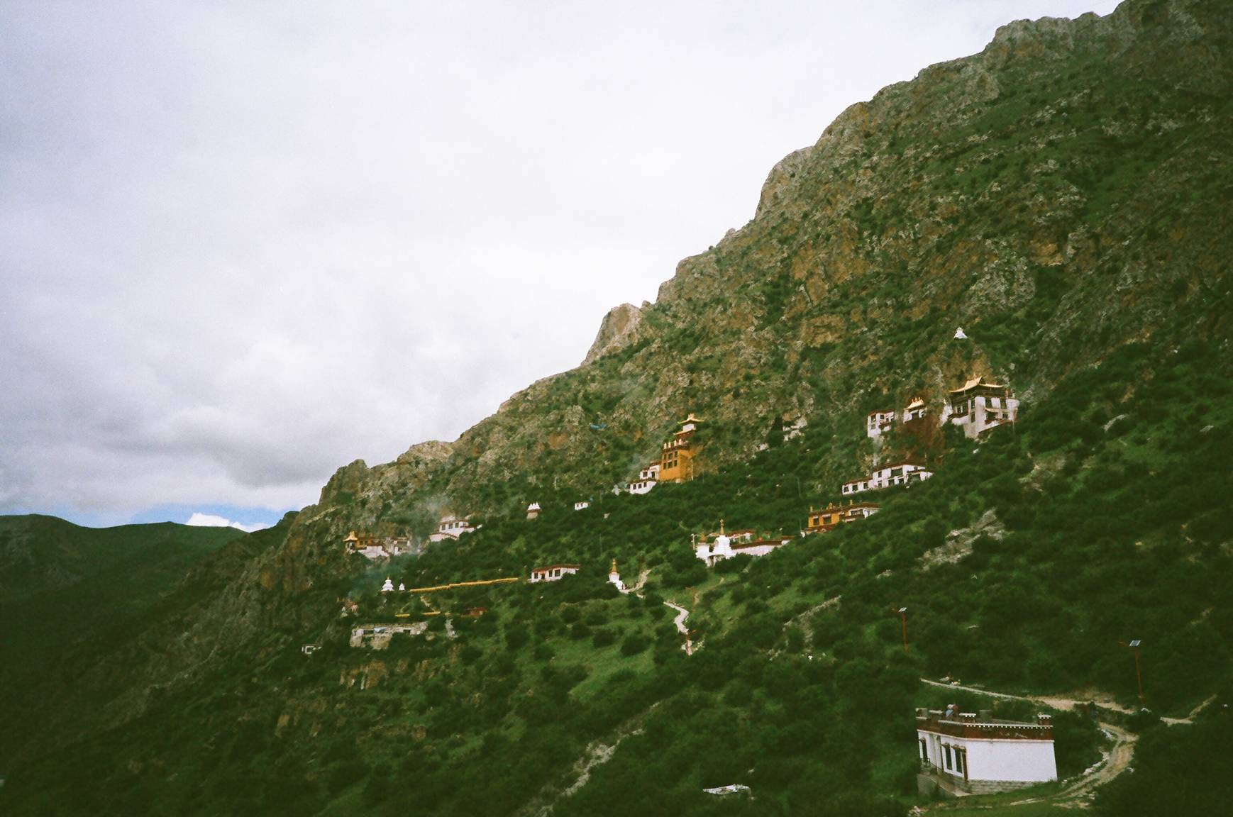 Small village on the slope of a Hill.