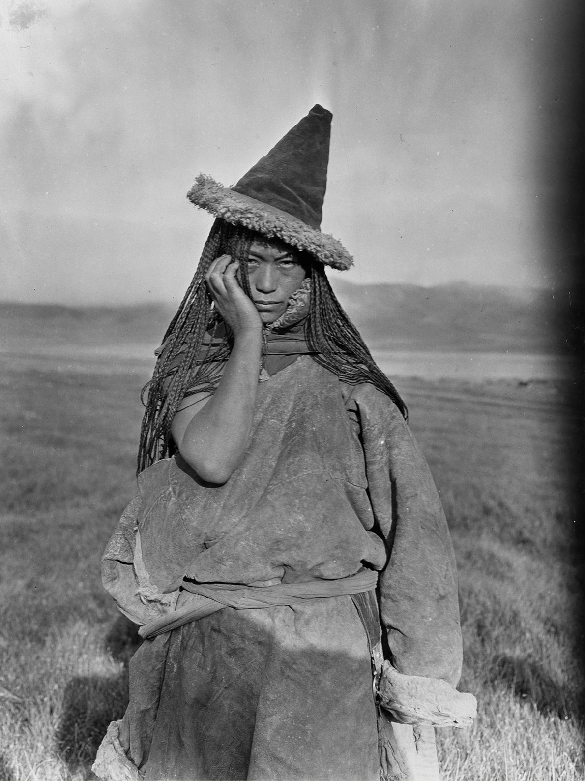 A nomadic Tibetan woman in the People's Republic of China.
