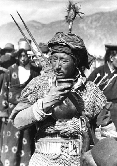 Khampa warrior on the Ladakh expedition, 1950's.